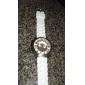 Unisex-Chrysantheme geformten Quarz Unisex Armbanduhr (weiß)