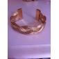 tressée alliage bracelet de manchette des femmes (de couleurs assorties)