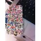 Треугольная цветочный узор Твердый переплет чехол для iPhone 4/4S
