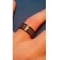 Miss ROSE®Cross with Scripture Titanium Steel Couple Ring (1 PCS)