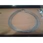 Sliver Trenzado Collar Cuerda de la Mujer (Contenido 5 imágenes)