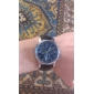 Men's Alloy Round Dial PU Band Quartz Analog Wrist Watch