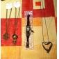 Gun Color Plated Vintage Dollor Sign Necklace