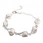 Lureme®Women's Water Drop Shaped Pearl Bracelet
