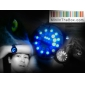 Men's Watch Blue LED Roll Ball Style Display Silicone Strap