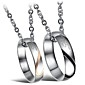 Necklace Pendant Necklaces Jewelry Wedding / Party / Daily / Casual Fashion Titanium Steel Silver 1pc Gift
