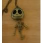 antika bakır eski iskelet adam kolye (rastgele renk)