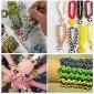 20pcs twistz silikon bandz karet gelang diy gelang liontin ornamen pelangi warna gaya tenun untuk anak-anak