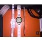 Женский Теннисные браслеты Хрусталь Кожа Имитация Алмазный Уникальный дизайн Мода Бижутерия Серебряный Бижутерия 1шт