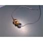 Корейской поп-матовое круг кулон ожерелье моды трехцветный N571