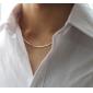 Femme Colliers chaînes Alliage Mode Argent Bijoux Pour Mariage Soirée Quotidien Décontracté 1pc
