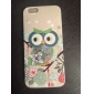 Flowers Style Owls Pattern Silicone Soft Case for iPhone 6/6S