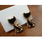 Women's  Charming Cat Metal Stud Earrings