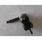 Suspension de chat noir de 3,5 mm en forme de Jack d'écouteur anti-poussière pour le téléphone intelligent iPhone, iPad, Samsung et autres