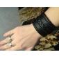 Z&X®  Men's Wide Twist Woven Leather Bracelet