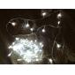 100-LED 10M света Украшения для рождественской вечеринки Холодный белый свет Светодиодный свет шнура с 8 режимов отображения (220)