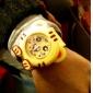 Children's Tiger Style Bendable Plastic Band Slap Wrist Watch