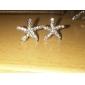 Серьги-гвоздики Камни по месяцу рождения Стразы Сплав В форме звезды Золотой Серебряный Бижутерия Для Повседневные