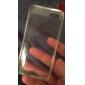 Pour Coque iPhone 5 Etuis coque Transparente Coque Arrière Coque Couleur Pleine Flexible PUT pour iPhone SE/5s iPhone 5