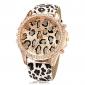 Женские Модные часы Кварцевый PU Группа Леопард Разноцветный