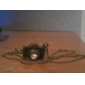 старинные бронзовые форма diamanted камера ожерелье (1 шт)