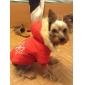 Cães Casacos / Camisola com Capuz Vermelho / Marrom Roupas para Cães Inverno Floco de Neve Mantenha Quente / Reversível / Natal