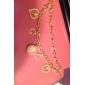 Popular Women's CZ  Rhinestone Gold Alloy Magic Chain Wrist Watch