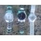 Men's Business Style Silver Alloy Quartz Wrist Watch (Assorted Colors)