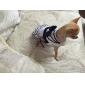 Cães Vestidos Azul / Branco Roupas para Cães Verão Riscas / Laço Da Moda / Aniversário