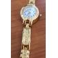 Женские Модные часы Часы-браслет Кварцевый сплав Группа Элегантные часы Золотистый