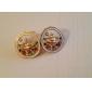 Coreano moda incrustada de diamantes Saturno brincos brincos de esmalte brincos universo E444