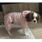 Собаки Плащи / Толстовки Розовый Одежда для собак Зима В горошек