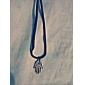 хамса классический бронзовый рука форма кожа хамса кулон ожерелье (1 шт)