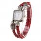 Mulheres Bracele Relógio Relógio Casual Quartzo Banda Vintage Vermelho Vermelho