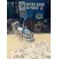 Puzzles Puzzles 3D Building Blocks DIY Toys Bâtiments célèbres Papier Marron / Gris Maquette & Jeu de Construction