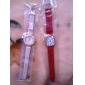 Mulheres Relógio de Moda Quartzo Couro Banda Brilhante Preta Branco Azul Vermelho Marrom Verde