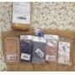wkae® design de impressão de seda clássico com caso difícil luz fluorescente de plástico para iPhone 4 / 4S