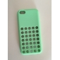 Dot Hollow-Out Soft Solid Color Back Case for iPhone 5C(Assorted Color)