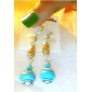 Drop Earrings Dangle Earrings Earrings Turquoise Bohemian Statement Jewelry Vintage Gem Turquoise Ball Blue Jewelry ForParty Birthday