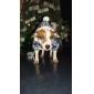 Кошка Собака Плащи Толстовки Одежда для собак Сохраняет тепло Мода В снежинку Коричневый Красный Синий