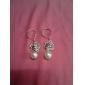 Han Jang Nara rosas oco diamante borla brincos de pérola E181