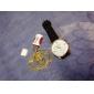 18k kultaa täynnä Figaro ketju miesten 4mm, 22 tuumaa (46cm)