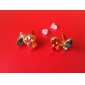 Boucles d'oreille goujon Cristal Alliage Rouge Bijoux Quotidien