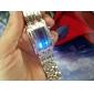 Мужской Наручные часы LED Календарь Цифровой Нержавеющая сталь Группа Черный Серебристый металл