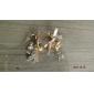 Women's Korean bow diamond pearl Eiffel Tower Earrings