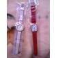 Mulheres Relógio de Moda Quartzo PU Banda Preta Vermelho Marrom Verde Rosa Preto Marron Vermelho Verde Rosa claro