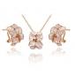 Roxi exquise rose golen jewelrys de fleurs pour les femmes élégantes de fête avec zircons, nouveau style, cadeaux de noël meilleur
