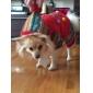 Собаки Плащи / Толстовки Красный / Зеленый Одежда для собак Зима / Весна/осень Цветовые блоки Сохраняет тепло / Рождество