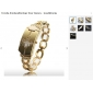 Modische Damen PC Quartz Armbanduhr mit Gold-Legierung