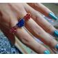 American Flag Union Jack Stars Love Bicyclic Ring